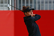 Meghan Maclaren tees off on the 1st during the Ricoh Women's British Open golf tournament at Royal Lytham and St Annes Golf Club, Lytham Saint Annes, United Kingdom on 3 August 2018. Picture by Simon Davies.