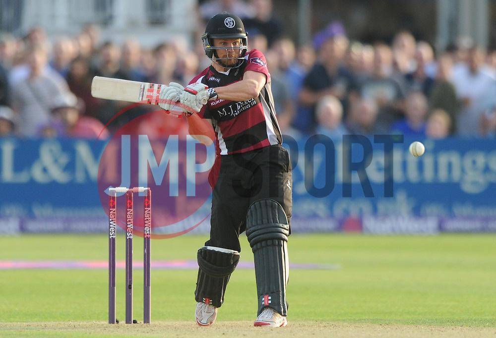 James Hildreth of Somerset bats - Photo mandatory by-line: Dougie Allward/JMP - Mobile: 07966 386802 - 19/06/2015 - SPORT - Cricket - Bristol - County Ground - Gloucestershire v Somerset - Natwest T20 Blast