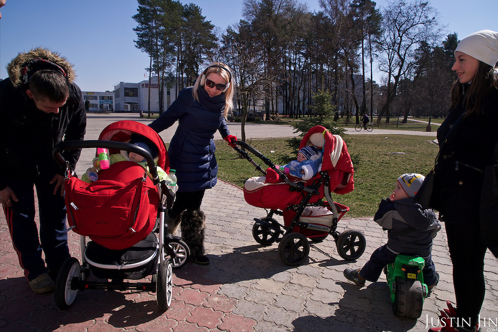 Children in the town of Slavutych, which has some of the highest birth rates in Ukraine. <br /> <br /> Slavutych rises out of the ashes of the Chernobyl nuclear disaster in April 26, 1986. People living near the disaster area were largely moved to the new city, built from scratch for the sole purpose of housing the population displaced by the nuclear accident.