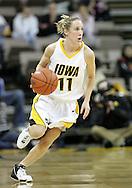 25 JANUARY 2007:  Iowa guard Kristi Smith (11) in Iowa's 80-78 overtime loss to Minnesota at Carver-Hawkeye Arena in Iowa City, Iowa on January 25, 2007.