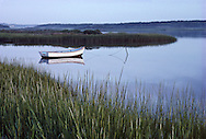 Westhampton Beach, Qougue, Dinghy, New York. Marsh, Long Island, South Fork