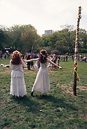 May Day celebrations with a May Pole in Central Park, New York City, 1994.