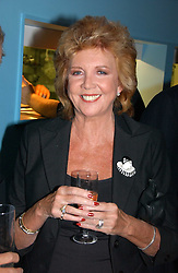 tv presenter CILLA BLACK at a party to celebrate the publication of Glass Houses by Sandra Howard held at Tamesa, Oxo Tower Wharf, Barge House Street, London SE1 on 5th September 2006.<br /><br />NON EXCLUSIVE - WORLD RIGHTS