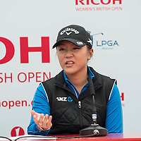 Picture by Christian Cooksey/CookseyPix.com . Standard repro rate apply.<br /> <br /> Teenage golf sensation Lydia Ko from New Zealand talks to the press after shooting a 6 under par 64 to take the early lead on the opening day of the Ricoh Women's British Open at Trump Turnberry