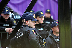 Police at last football match of PrvaLiga Telekom Slovenije between NK Maribor and NK Interblock, when Maribor became a Slovenian National Champion, on May 23, 2009, in Ljudski vrt, Maribor. (Photo by Marjan Kelner/Sportida)