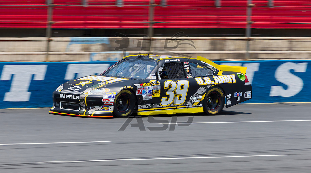 CONCORD, NC - MAY 26, 2012:  Ryan Newman (39) takes his U.S. Army Chevrolet on the track for a practice session for the Coca-Cola 600 at the Charlotte Motor Speedway in Concord, NC.