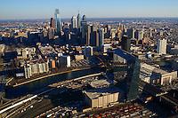 Aerial View, Philadelphia Skyline & Schuylkill River