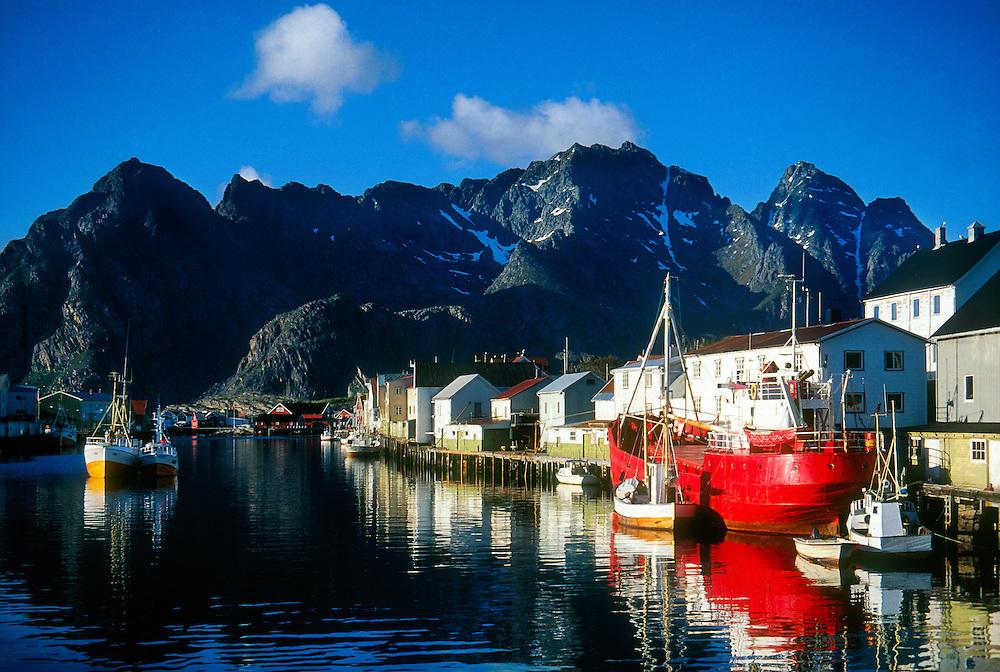 Fishing village,  Henningsvaer, Lofoten Islands, Norway