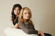 "Actresses Blake Lively and America Ferrera (L), stars of the film ""The Sisterhood of the Traveling Pants 2"" pose during a portrait session in New York, July 27, 2008. Photo by Keith Bedford"