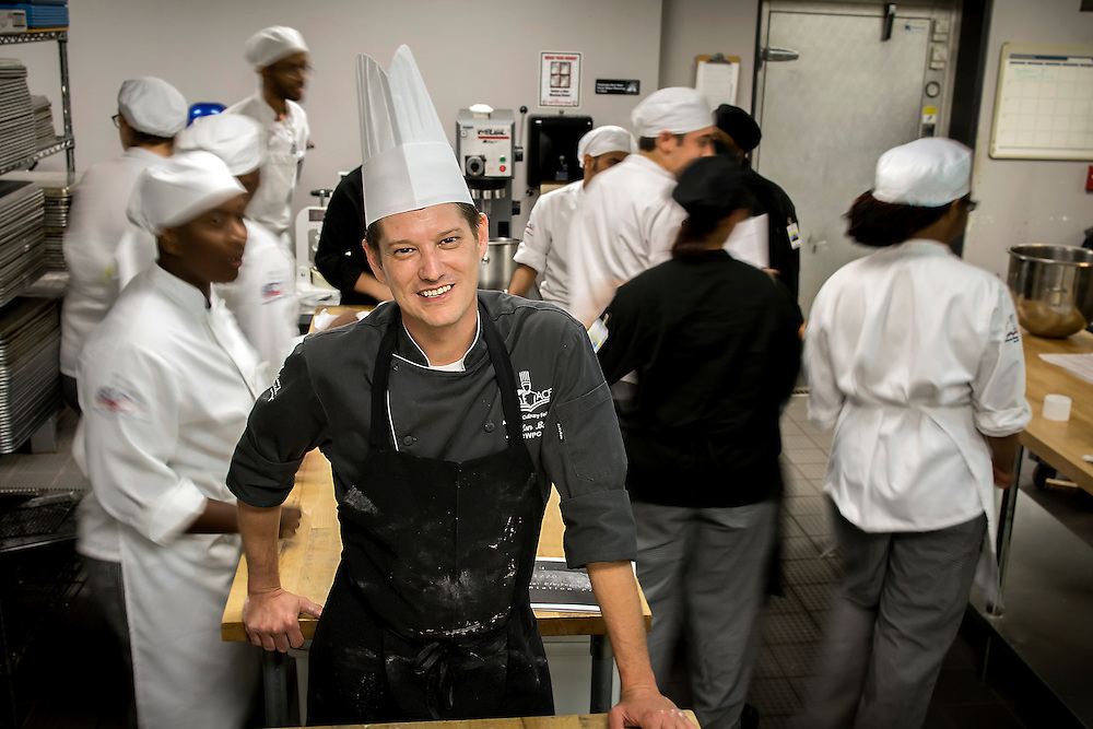 Savannah Technical College Culinary Arts/Baking & Pastry Zebulon Berry teach his students in Culinary Arts/Baking, Wednesday, July 1, 2015, at the Savannah Campus in Savannah, Ga.  (STC Photo/Stephen B. Morton)