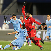 NEW YORK, NEW YORK - November 06:  Jozy Altidore #17 of Toronto FC in action during the NYCFC Vs Toronto FC MLS playoff game at Yankee Stadium on November 06, 2016 in New York City. (Photo by Tim Clayton/Corbis via Getty Images)