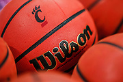 CINCINNATI, OH - JANUARY 02: A detail view of a Wilson NCAA basketball seen before the Cincinnati Bearcats and Tulane Green Wave game at Fifth Third Arena on January 2, 2019 in Cincinnati, Ohio. (Photo by Michael Hickey/Getty Images)