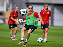 NEWPORT, WALES - Thursday, August 30, 2018: Wales' Nadia Lawrence during a training session at Rodney Parade ahead of the final FIFA Women's World Cup 2019 Qualifying Round Group 1 match against England. (Pic by David Rawcliffe/Propaganda)