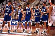 Europei Grecia 1995<br /> flavio carera, vincenzo esposito, riccardo pittis, nando gentile, walter magnifico