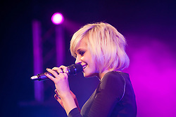 Pixie Lott on stage at the Radio Forth Awards 2011with St James Shopping Centre, at the Usher Hall, Lothian Road, Edinburgh. .