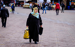 An old lady shopping in the medina in Marrakech, Morocco, North Africa<br /> <br /> (c) Andrew Wilson | Edinburgh Elite media