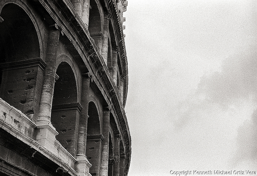 The Roman coliseum is awe inspiring building.  Even today it has such a commanding presence.