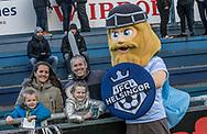 FODBOLD: FC Helsingør's maskot Holger Danske før kampen i ALKA Superligaen mellem FC Helsingør og Silkeborg IF den 28. oktober 2017 på Helsingør Stadion. Foto: Claus Birch