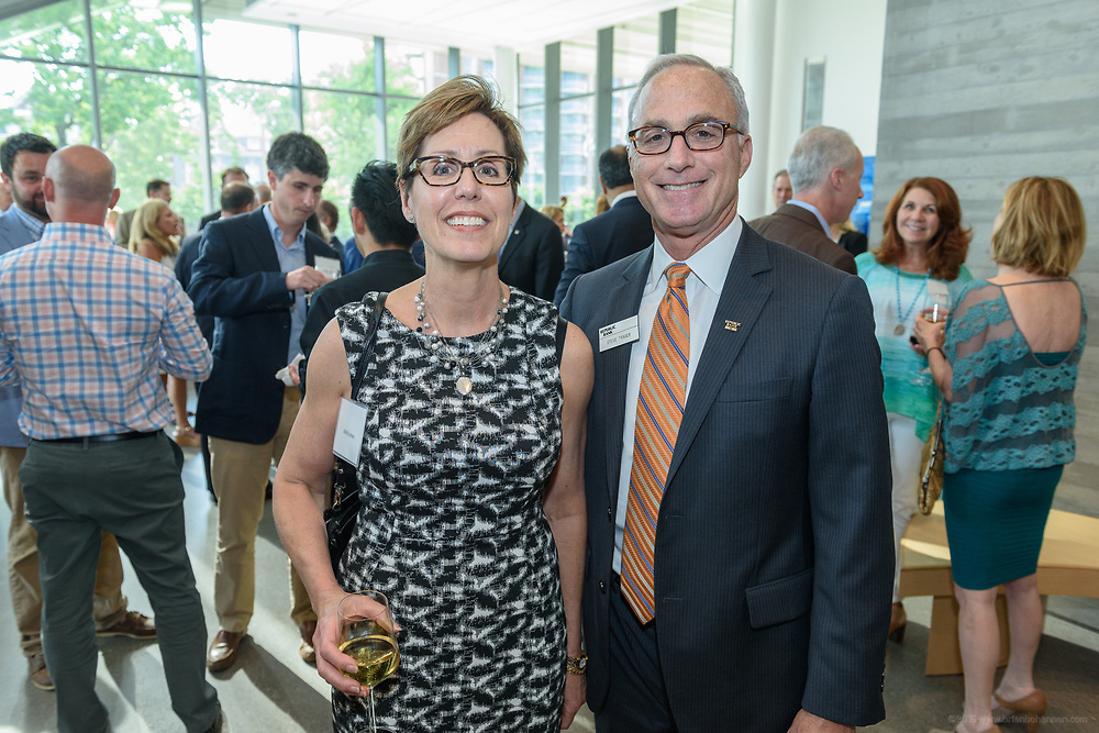 Molly Jones and Republic Bank Chairman and CEO Steve Trager at the 10-year anniversary celebration of Republic Bank's Private Banking and Business Banking divisions Wednesday, May 17, 2017, at the Speed Art Museum in Louisville, Ky. (Photo by Brian Bohannon)