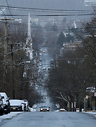 The view of Buffalo Street Street in Ithaca, NY, Friday, March 4, 2016. The City of Ithaca recently unveiled a new drug policy calling for supervised heroin injection sites and heroin maintenance therapy, which are pieces of the four pillars of change proposed.<br /> (Heather Ainsworth for The New York Times)