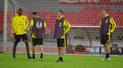 NAPELS, ITALY - Wednesday, October 20, 2010: Liverpool's Maximiliano Ruben Maxi Rodriguez during a training session ahead of the UEFA Europa League Group K match against SSC Napoli at the Stadio San Paolo. (Pic by: David Rawcliffe/Propaganda)