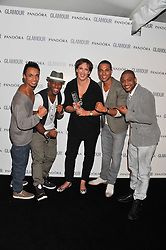 MIRANDA HART and JLS at the Glamour Women of The Year Awards 2011 held in Berkeley Square, London W1 on 7th June 2011.