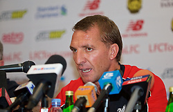KUALA LUMPUR, MALAYSIA - Wednesday, July 22, 2015: Liverpool's manager Brendan Rodgers during a press conference at the Saujana Hotel on day ten of the club's preseason tour. (Pic by David Rawcliffe/Propaganda)