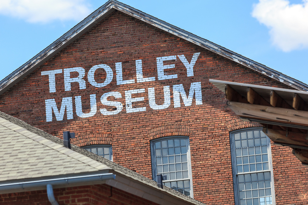 Scranton, PA - June 20, 2013: The Electric City Trolley Museum  displays and operates restored trolleys  on former lines of the Lackawanna and Wyoming Valley Railroad.
