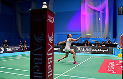 Nicky Cerfontyne of Bristol Jets uses a power play  - Photo mandatory by-line: Robbie Stephenson/JMP - 07/11/2016 - BADMINTON - University of Derby - Derby, England - Team Derby v Bristol Jets - AJ Bell National Badminton League