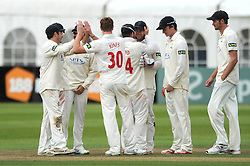 Jack Taylor of Gloucestershire is caught by keeper Chris Cooke of Glamorgan off Dewi Penrhyn Jones of Glamorgan - Mandatory byline: Dougie Allward/JMP - 07966386802 - 24/09/2015 - Cricket - County Ground -Bristol,England - Gloucestershire CCC v Glamorgan CCC - LV=County Championship - Division Two - Day Three