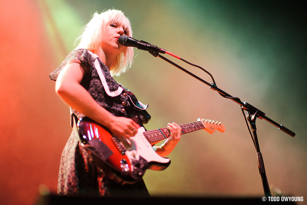 The Joy Formidable performing in support of Cage The Elephant at the Pageant in St. Louis on December 13, 2011.