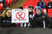 Rochdale Fans - no diving Dele Ali during the The FA Cup match between Tottenham Hotspur and Rochdale at Wembley Stadium, London, England on 28 February 2018. Picture by Daniel Youngs.