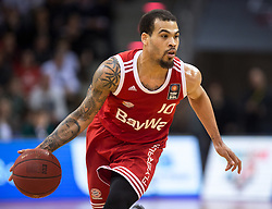28.03.2016, Telekom Dome, Bonn, GER, Beko Basketball BL, Telekom Baskets Bonn vs FC Bayern Muenchen, 23. Runde, im Bild Justin Cobbs (FC Bayern Muenchen #10) // during the Beko Basketball Bundes league 23th round match between Telekom Baskets Bonn and FC Bayern Munich at the Telekom Dome in Bonn, Germany on 2016/03/28. EXPA Pictures © 2016, PhotoCredit: EXPA/ Eibner-Pressefoto/ Schüler<br /> <br /> *****ATTENTION - OUT of GER*****