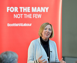 Pictured: Scottish Labour deputy leader Lesley Laird speaks at the lunch.<br /> <br /> Labour leader Jeremy Corbyn travelled to Scotland to attend a festive lunch for homeless charities and volunteers in Edinburgh on Sunday, along with Scottish Labour leader Richard Leonard.<br /> <br /> © Dave Johnston / EEm