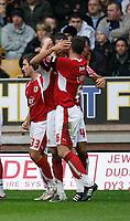 Photo: Steve Bond/Sportsbeat Images.<br /> Wolverhampton Wanderers v Bristol City. Coca Cola Championship. 03/11/2007. Liam Fontaine celebrates