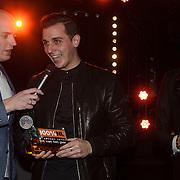 NLD/Amsterdam/20150203 - Uitreiking 100% NL Awards 2015, Nielson wint de award voor Beste Hit van het Jaar