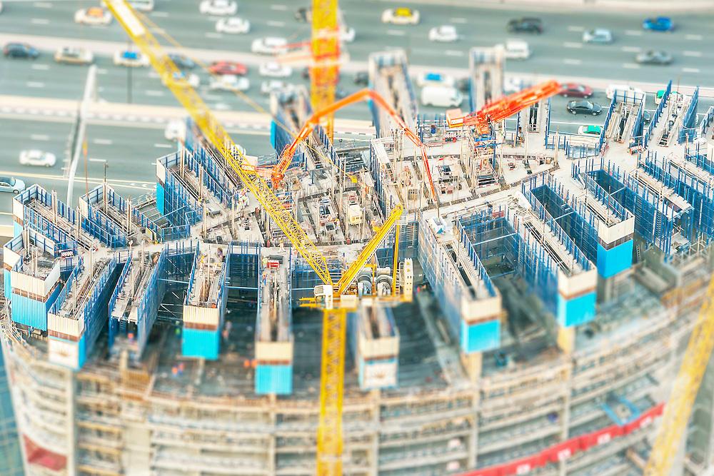 Tilt Shift Dubai Construction Site