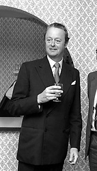 The DUKE OF MARLBOROUGH at a party in October 1979.