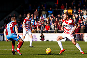 Doncaster Rovers midfielder Herbie Kane (15), on loan from Liverpool in action  during the EFL Sky Bet League 1 match between Scunthorpe United and Doncaster Rovers at Glanford Park, Scunthorpe, England on 23 February 2019.