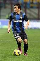 "Yuto Nagatomo Inter.Milano 10/02/2013 Stadio ""San Siro"".Football Calcio Serie A 2012/13.Inter v Chievo Verona.Foto Insidefoto Paolo Nucci."
