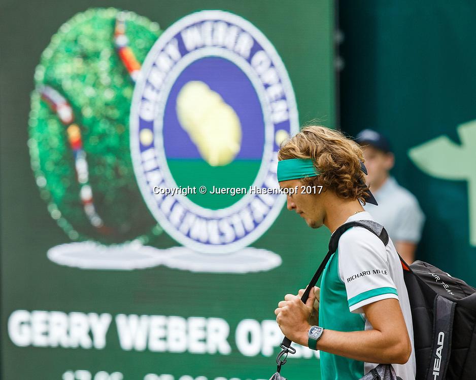 ALEXANDER ZVEREV (GER)<br /> <br /> Tennis - Gerry Weber Open - ATP 500 -  Gerry Weber Stadion - Halle / Westf. - Nordrhein Westfalen - Germany  - 25 June 2017. <br /> &copy; Juergen Hasenkopf
