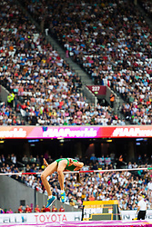 London, August 12 2017 . Airiné Palšyté, Lithuania, in the women's high jump final on day nine of the IAAF London 2017 world Championships at the London Stadium. © Paul Davey.