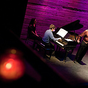 January 14, 2012 - Brooklyn, NY : ..Pianist Michael Brofman and tenor Paul Sperry perform the work of Charles Ives at the Galapagos Art Space in DUMBO, Brooklyn, on Saturday evening...CREDIT: Karsten Moran for The New York Times