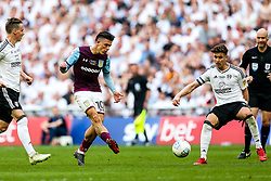 Jack Grealish of Aston Villa is challenged by Tom Cairney of Fulham - Rogan/JMP - 26/05/2018 - FOOTBALL - Wembley Stadium - London, England - Aston Villa v Fulham - Sky Bet Championship Play-Off Final.