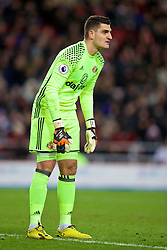 SUNDERLAND, ENGLAND - Monday, January 2, 2017: Sunderland's goalkeeper Vito Mannone in action against Liverpool during the FA Premier League match at the Stadium of Light. (Pic by David Rawcliffe/Propaganda)