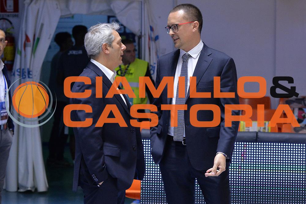 Oldoini Massimiliano, Maffezzoli Massimo<br /> Happycasa Basket Brindisi - Sidigas Avellino<br /> Legabasket serieA 2017-2018<br /> Brindisi , 15/11/2017<br /> Foto Ciamillo-Castoria/ M.Longo
