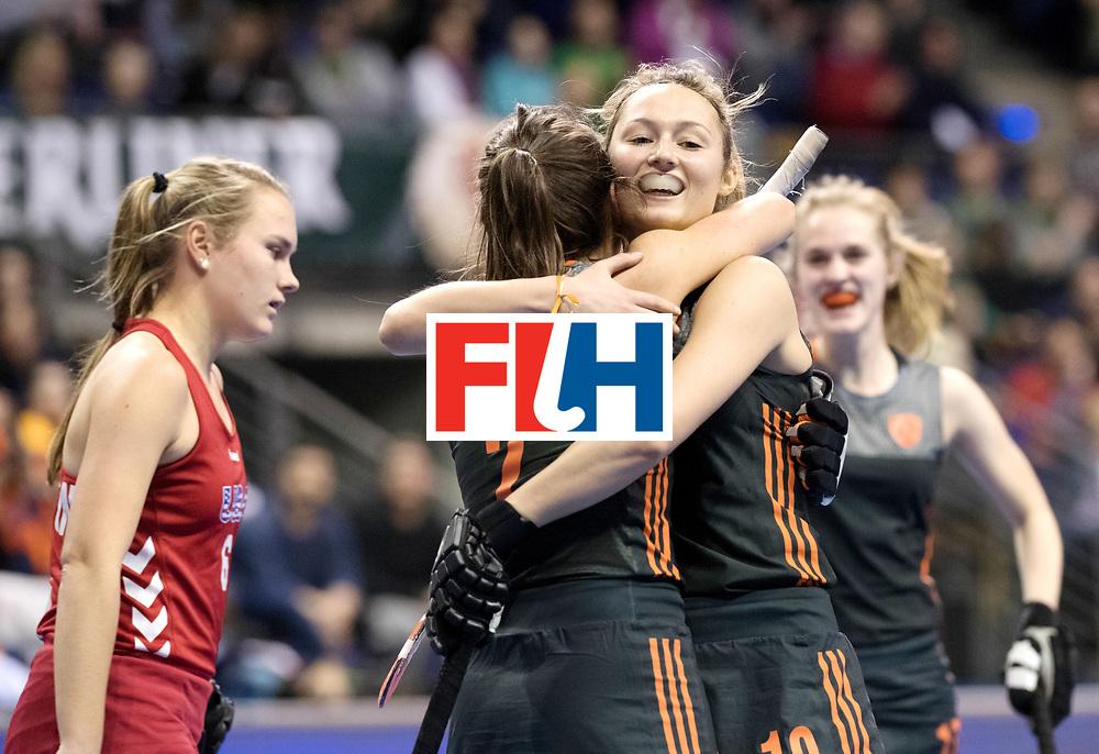 BERLIN - Indoor Hockey World Cup<br /> Women: Netherlands - United States<br /> foto: Marijn Veen.<br /> WORLDSPORTPICS COPYRIGHT FRANK UIJLENBROEK