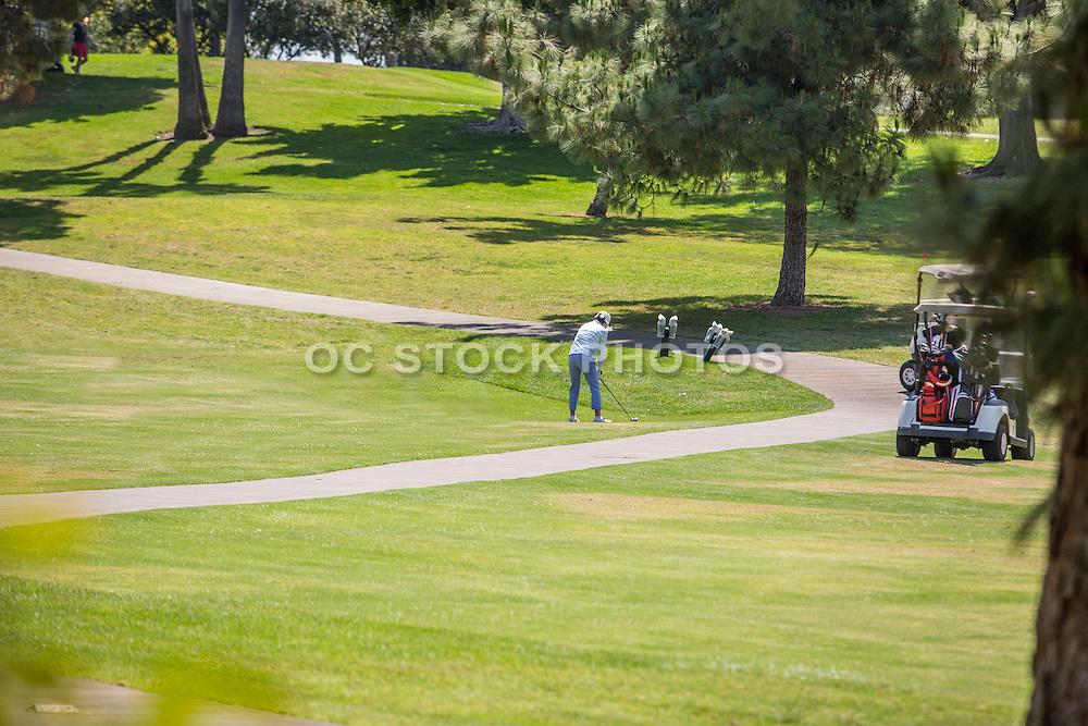 Golfing at Los Coyotes Country Club in Buena Park
