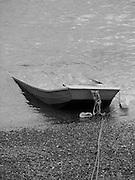 Sunken row boat in Marblehead, Massachusetts.