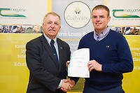 Repro Free: Professor Gerry Boyle, DG Teagasc with Teagasc Green Cert Graduate Gerard Quinn at the Raheen Woods Hotel  Photo:Andrew Downes, xposure